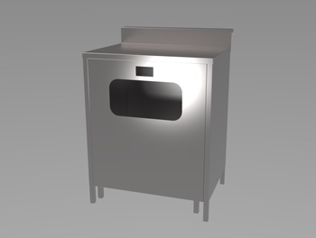 Bar Solid Top with Bin