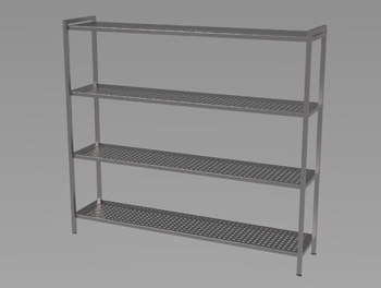 Perforated Rack of Shelves